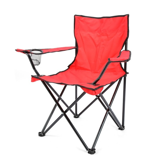 RED Portable Folding Fishing Chair Seat for Outdoor Camping Leisure Picnic Beach Chair Other Fishing Tools