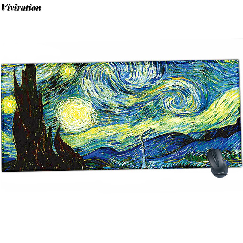 2018 neue Heiße Produkt Van Gogh Druck Mousepad Gummi Gaming Maus Pad Für Overwatch CF Für League Of Legends Dota gamer Mause Pad
