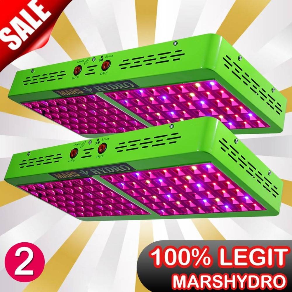 2 pièces Mars Hydro Réflecteur 600 W LED Croissance Plantes D'intérieur Élèvent le Plein Spectre De Lumières de Croissance/Floraison Commutateurs Système Hydroponique
