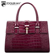 free delivery Genuine Leather  Women bag   2016 new fashion shoulder Messenger Bag Crocodile grain handbag