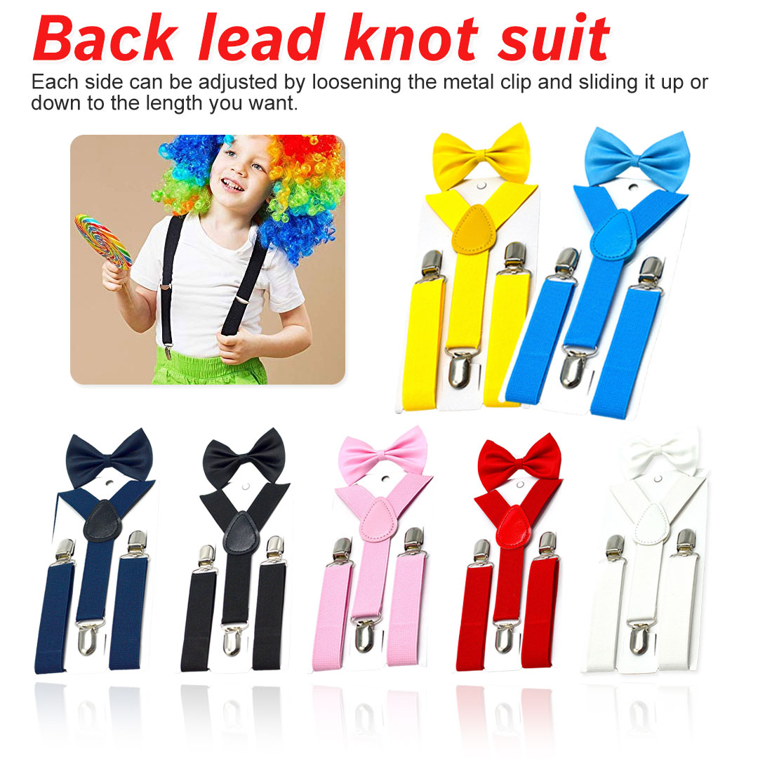 Cool Kids Suspenders With Bow Tie Fashion Children Bow Tie Set Boys Braces Girls Adjustable  Baby Wedding Ties Accessorie