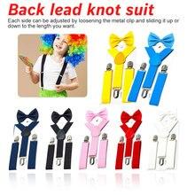 Cool Kids Suspenders with Bow tie Fashion Children Bow Tie Set Boys Braces Girls Adjustable  Baby Wedding Ties Accessorie