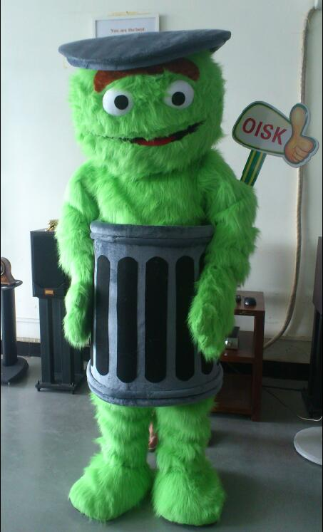 Us 455 0 Oisk Custom Oscar The Grouch Mascot Costume Halloween Christmas Birthday Celebration Carnival Dress Full Body Props Outfit In Mascot From
