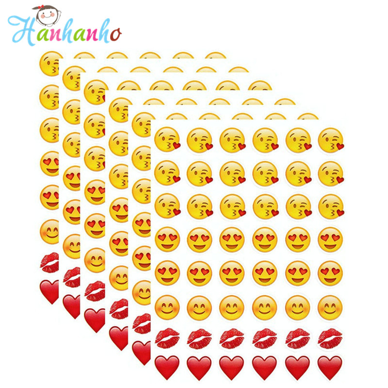 6 sheets/Pack Love and Kiss Emoji Sticker Most Popular