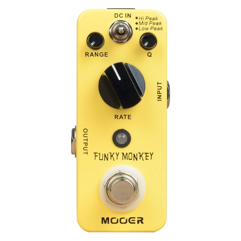 MOOER Funky Monkey Auto Wah Electirc Guitar Effect Pedal Mini Effects True Bypass true bypass looper effect pedal guitar effect pedal looper switcher true bypass guitare pedal mini light blue loop switch