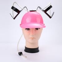 8 Colors Unique Party Bar Game Straw Beer Drinking Cap Hat Guzzler Helmet For School Season