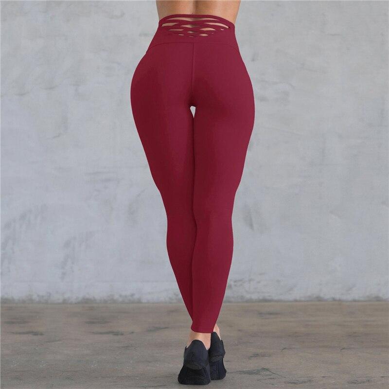Casual Womens Yogawear Fitness Leggings Female Slim Fit High Waist  Jogging Sportswear Trousers Slacks Legging Pants New