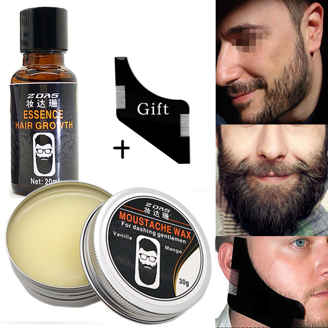 Beard Oil ,Balm ,Brush and Comb Kit for Men-Beard Care Gift Set with Organic Ingredients Mustache Moisturizing Wax Set 3 pcs
