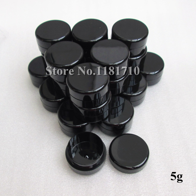 Groothandel 960 stks/partij 5g Zwart Plastic Jar Eye Cream Fles Cosmetische Jar Make Up Pot UV slip-in Hervulbare Flessen van Schoonheid op AliExpress - 11.11_Dubbel 11Vrijgezellendag 1