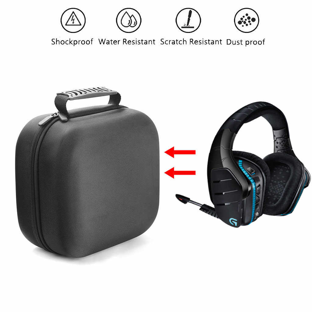 be69bea4e82 Portable Case for Logitech G933 Artemis Spectrum Wireless 7.1 Gaming Headset  Case Protective Cover Box Bag