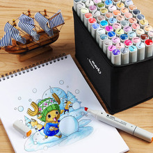 STA 6801 Alcohol Markers Set 60 Colors Broad Fine Tip for Anime Fashion Design Painting Highlighting