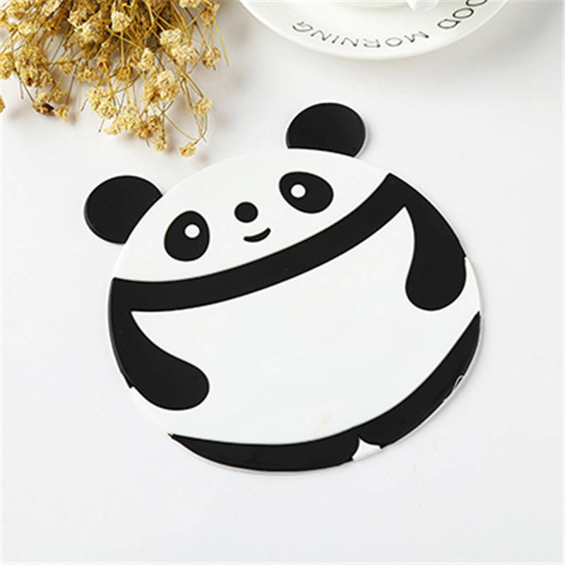 Cartoon Cute Silicone Teacup Coasters Cup Pads Mugs Bowls Mats Flexible Table Heat Resistant Lovely Round Drinks Placemats in Mats Pads from Home Garden