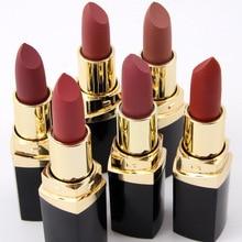 6pcs/set MISS ROSE Long-lasting Sexy Red Matte Lipstick Batom Cosmetic Natural Miosturizing Makeup Lip set Free Shipping