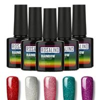 ROSALIND 10ml Fashion Rainbow Neon Nail Gel Polish Soak Off UV Colorful Nail Colors Art For Gel Nail Polish Long-lasting Gel