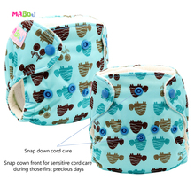 MABOJ Newborn Cloth Diapers AIO Nappy Overnight with Microfiber Insert Waterproof  Washable Wholesale Dropshiping