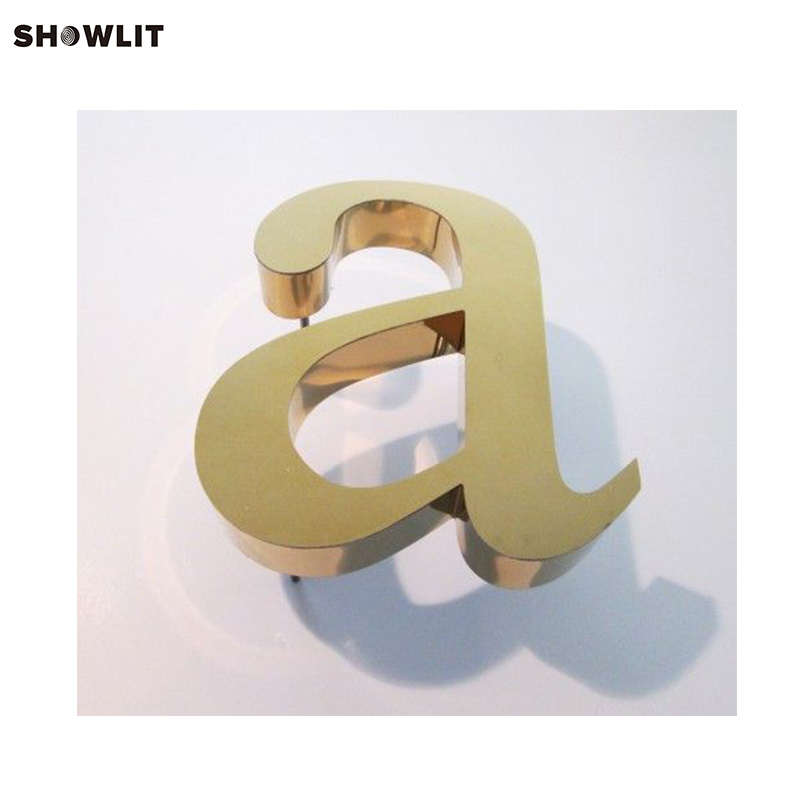 Custom Made Golden Color Modern House Numbers custom made golden color modern house numbers