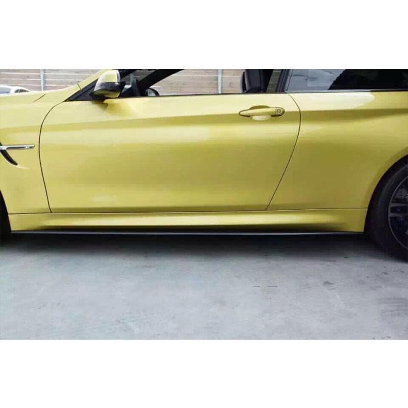 Kolfiberkroppsats Sidokjol Trim Spoiler för BMW F80 M3 4Door F82 M4 - Reservdelar och bildelar - Foto 3