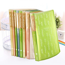 1 Pc A4 20 30 40 Pockets File Folder A Case For Documents Clear Book Document Bag Filing Products School Supplies Deli 5222