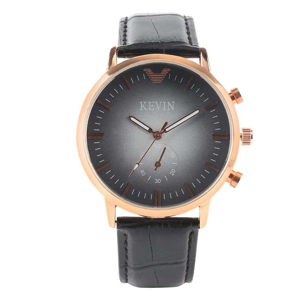 KEVIN Watch Minimalist Fashion Mens Wristwatch Quartz Leather Bangle Watches Men's Casual Clock Gifts reloj masculino