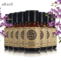 AKARZ face body skin care value sets Argan Frangipani Musk Lotus Patchouli Castor Rose Tea Tree essential Oils 10ml*8