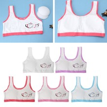 967cc6419b Cotton Girls Training Bras Underwear Development Period Point Printed Lace  Young lady Student Bras(China