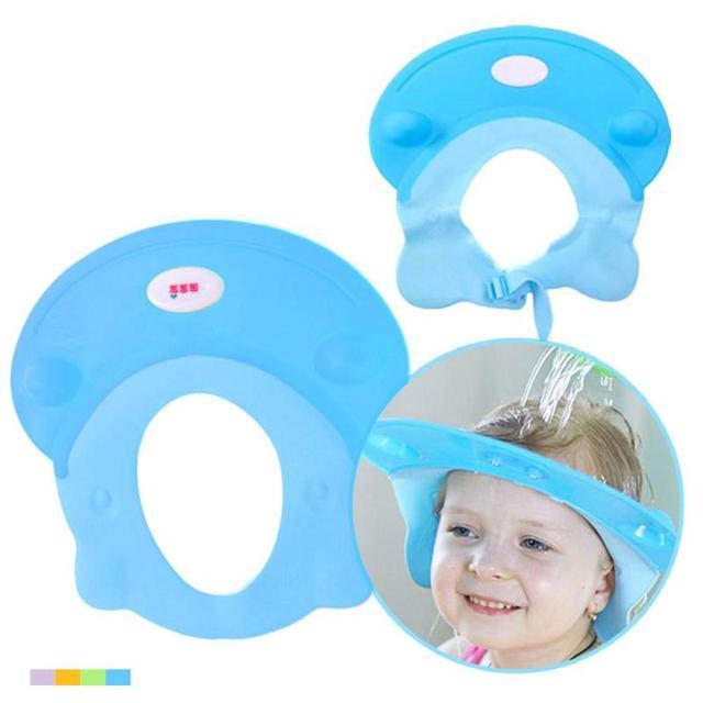 Baby Shower Cap Durable TPE Baby Bath Visor Hat Children Shampoo Bath Shower  Cap Adjustable Baby