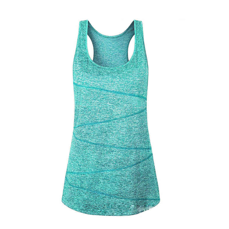 2019 spring and summer new sports yoga quick-drying vest fitness tank running T-shirt female