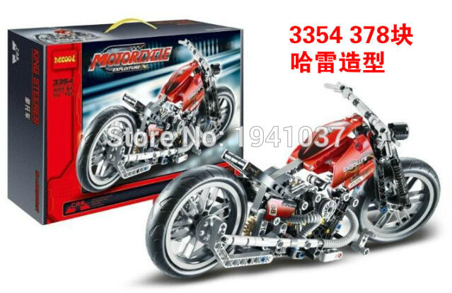 Decool 3354 Motorcycle Exploiture Building Blocks Sets Educational DIY Toys Bricks Toys Best Gift For Children