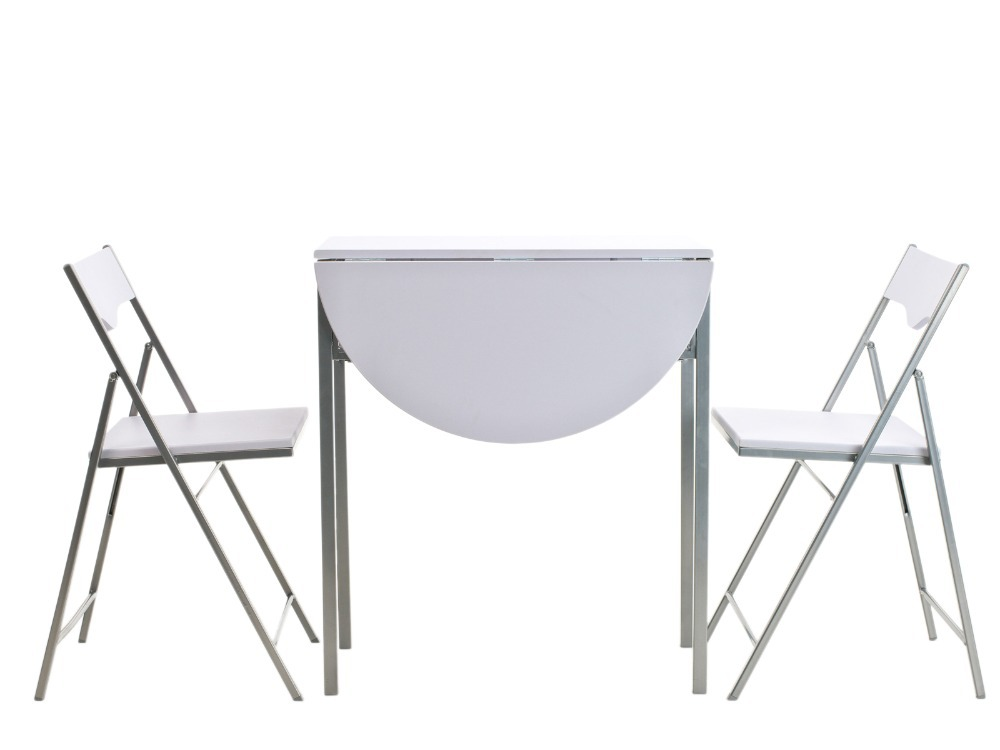 3pcs Modern Dining Table Set White Metal Erfly Design Breakfast High Quality Folding And Chair In Room Sets From
