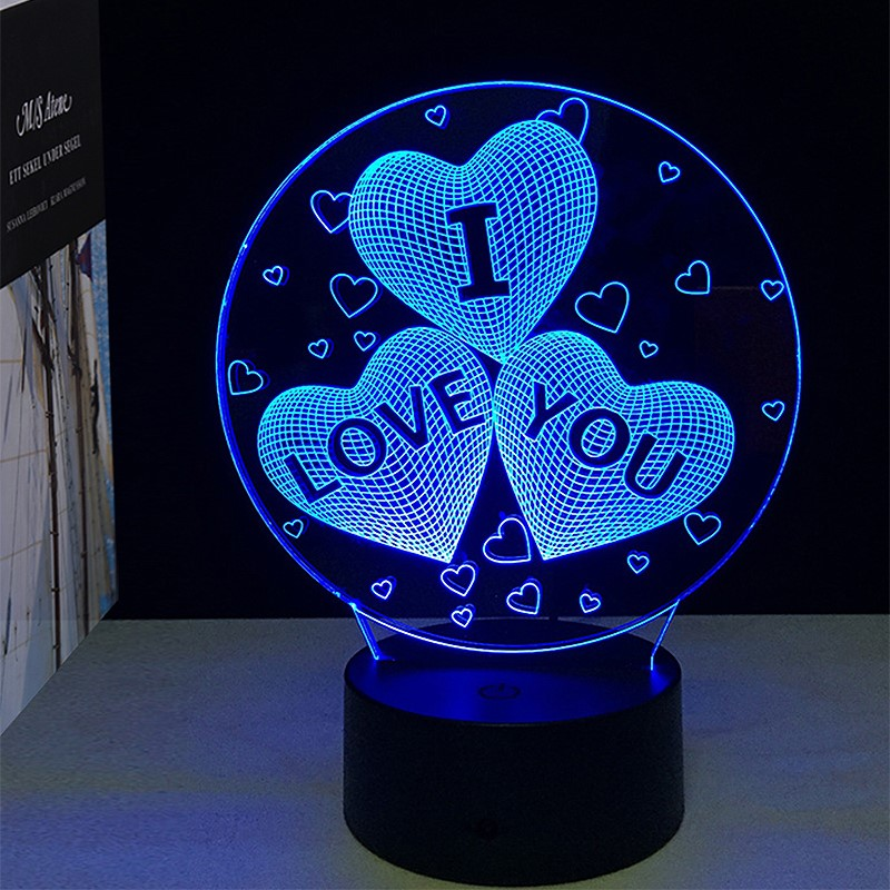 3D Visual Illusion Lamp Transparent Acrylic Night Light LED Lamp 7 Color Changing Touch Table Lamp Kids Lava Lamp star wars bb8 droid 3d bulbing light toys new 7 color changing visual illusion led decor lamp darth vader millennium falcon toy