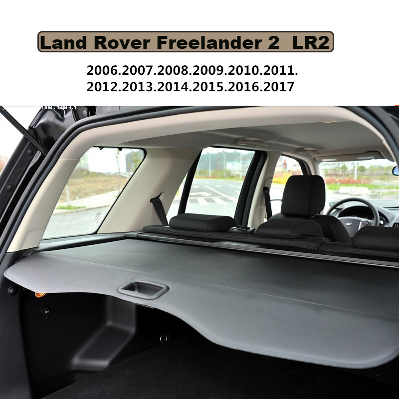 Car Rear Trunk Security Shield Cargo Cover For Land Rover Freelander 2 LR2 2006-2017 High Qualit Black Auto Accessories car rear trunk security shield shade cargo cover for honda fit jazz 2004 2005 2006 2007 black beige