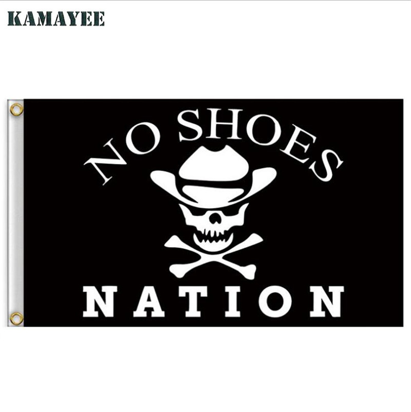 Home Decor Nation: 90x150cm No Shoes Nation Pirate Flag Skull Jolly Roger