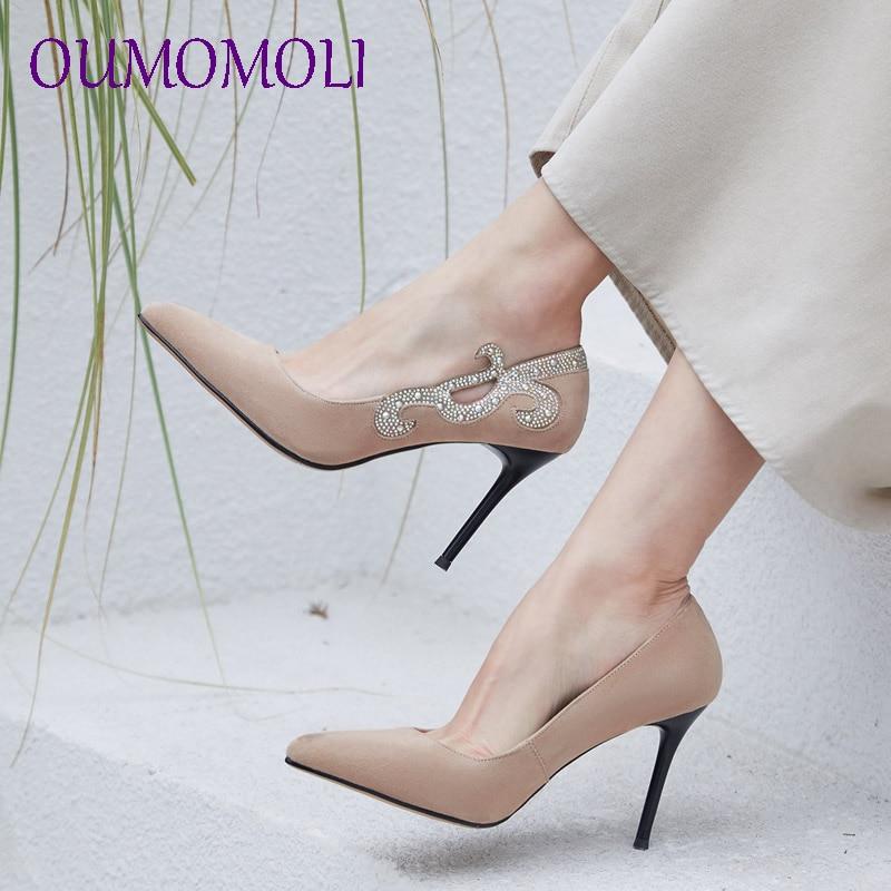 Femmes Pompes Pointu Moutons 2019 Daim D796 Beige Cristal En Beige Bout noir Slip Noir Mariée Chaussures Partie De Mariage Décoré Sur w1wqX