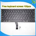 "Nova marca Coreana teclado + 100 pcs parafusos do teclado Para MacBook Air 13.3 ""A1369 A1466 2010-2015 Anos"