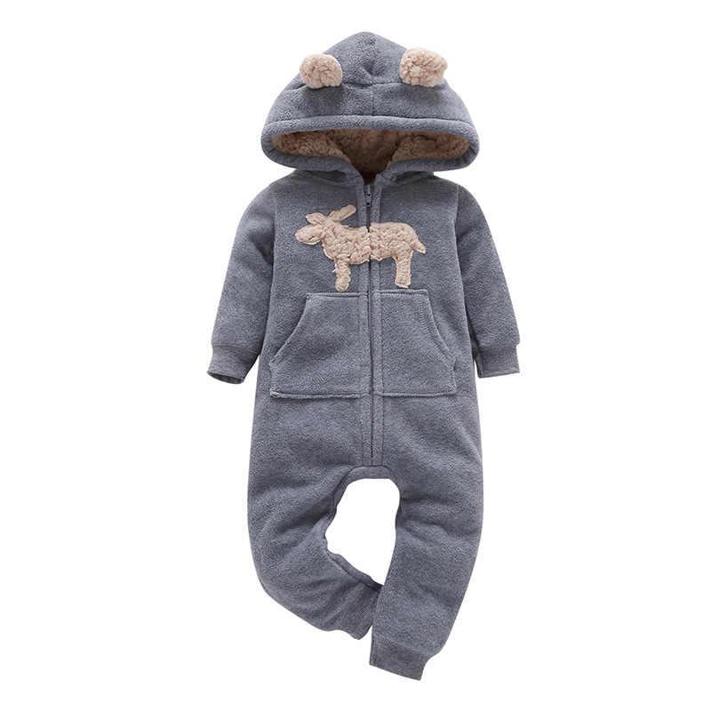 Infant Baby Strampler 2019 Herbst Frühling Winter Warm Korallen Fleece Neugeborenen Baby Mädchen Kostüm Tier Baby Gesamt overall