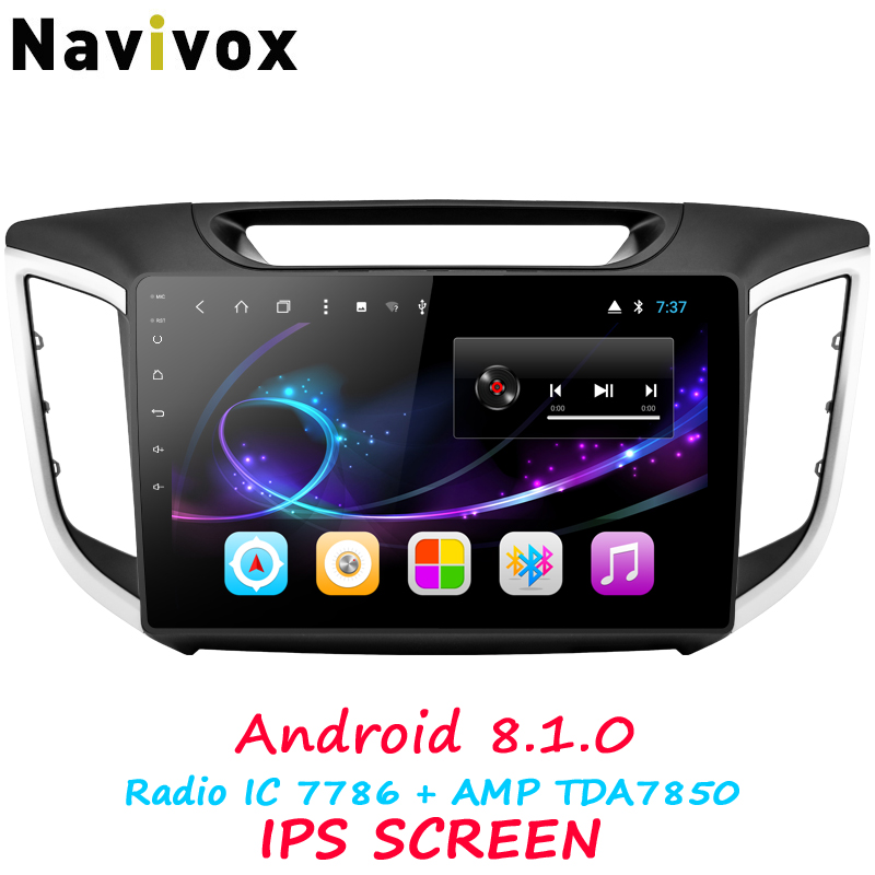 Navivox 10.1 Lecteur Multimédia De Voiture IPS Écran Radio De Voiture Android 8.1.0 Pour Hyundai IX25 Avec Navigation Stéréo Audio (pas de dvd)