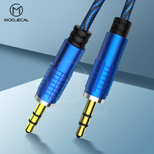 MOOJECAL 3.5 Jack AUX Audio Cable 3.5MM Male to Male Cable For Phone Car Speaker MP4 Headphone Jack 3.5 Metal head Audio Cables(China)