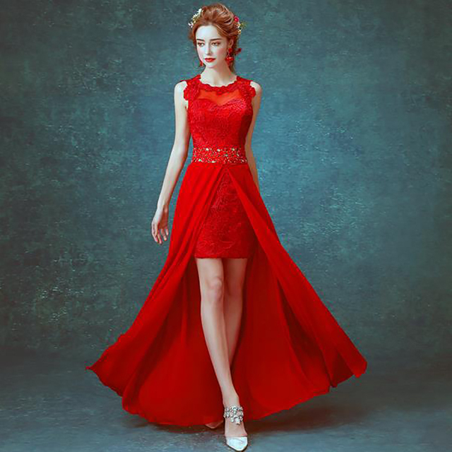 5c6019a2ec 2016 sexy red short front long back asymmetriacl dress cocktailscoop  sleeveless backless lace mini cocktail dress