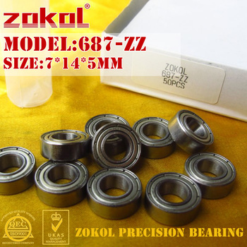 ZOKOL bearing 687zz 687ZZ P5Z4 687 OPEN Miniature  Deep Groove ball 7*14*3.5mm 7*14*5mm - discount item  48% OFF Hardware