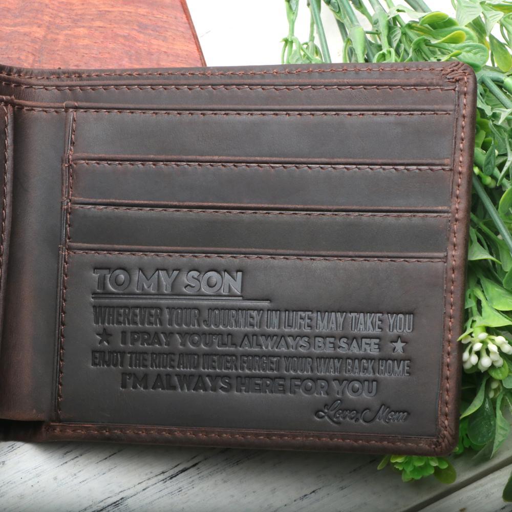 Mama Is My Bestie Long Wallets For Men Women Leather Wallet Unique Zipper Wallet