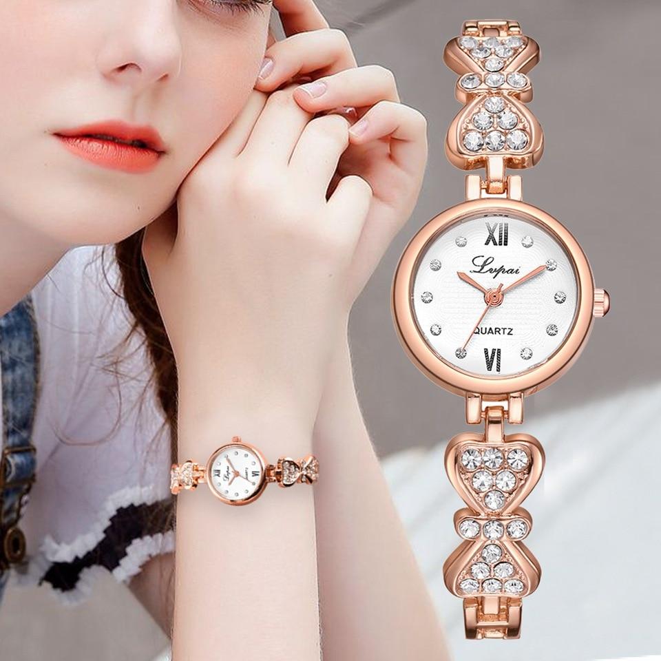 New Fashion Rhinestone Watches Women Luxury Stainless Steel Quartz Watch Women Dress Bracelet Watches Ladies Clock Relojes 2019