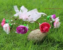 Bridemaid Flower Bridal Wreath Artificial Flower Head Wreath For Hair Floral Bridal Hair Accessory Wedding Flower Headpiece