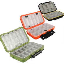Goture Double Layer Hard Plastic Fishing Box For Baits or Sinkers Lure Fishing Tackle Box Fly / Bass / Carp Fishing Accessories