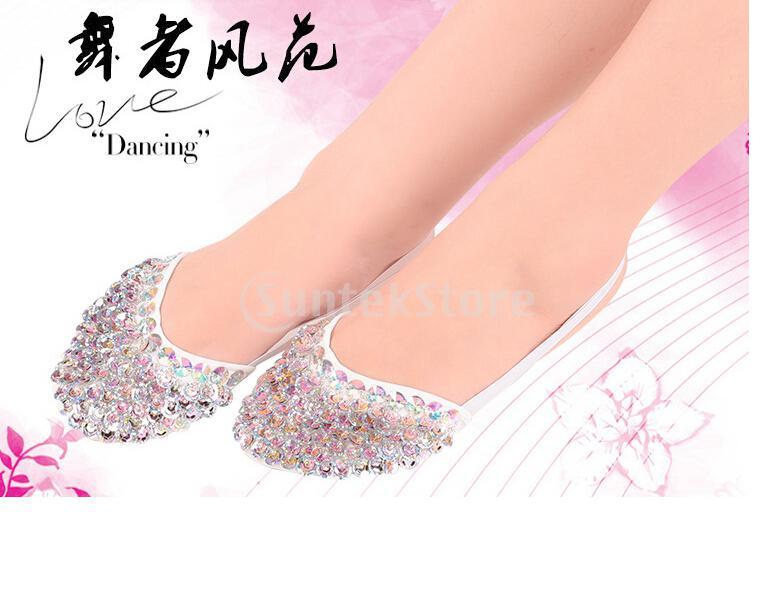 MagiDeal Ladies Belly Dance Shoes Slippers Flats Ballet Gymnastics Schuhe Dancing