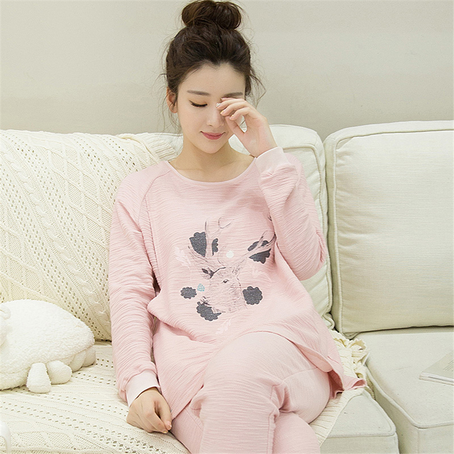 цены Maternity Breastfeeding Clothes Cotton Sleepwear Nursing Pajamas Suit Pyjama De Grossesse For Pregnant Women Clothes New 70M0214