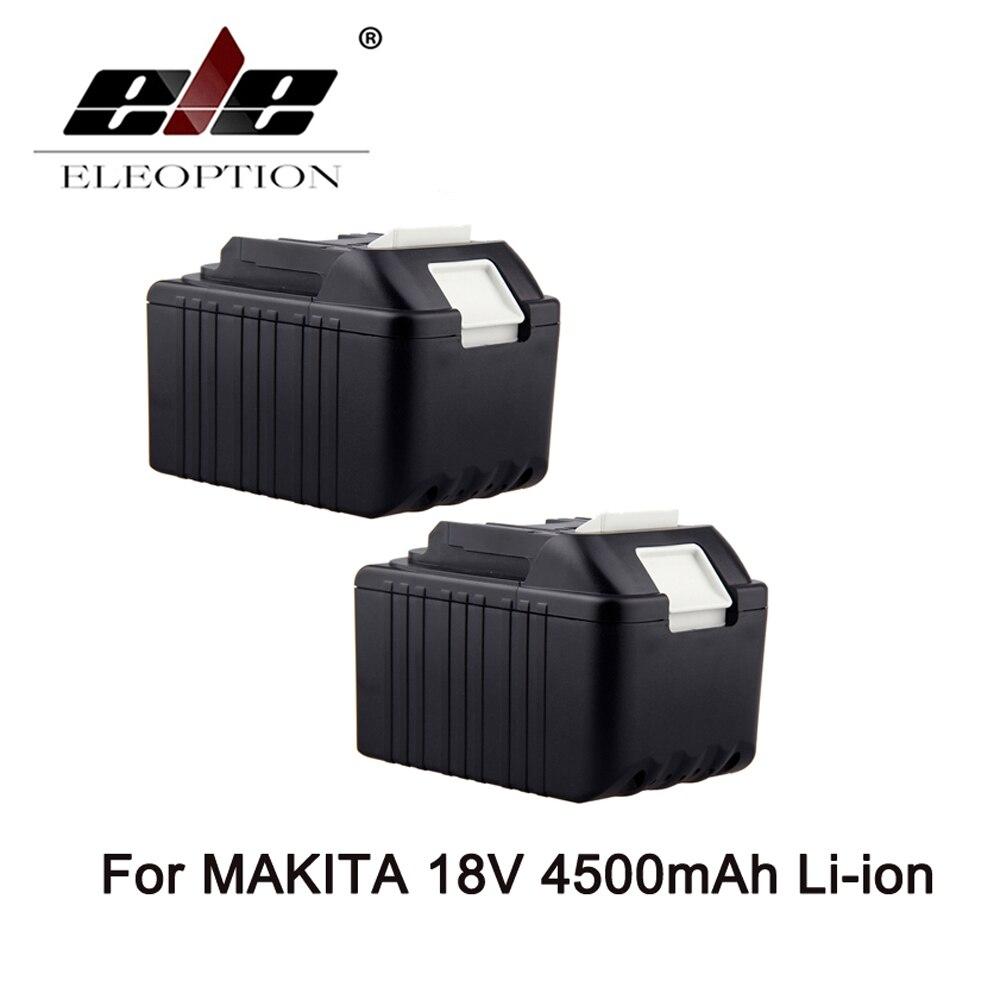 2PCS 4.5Ah 4500mAh 18V Li-Ion High Power Rechargeable battery for Makita BL1830 BL1840 BDF453SHE 194205-3 LXT400 Battery 18v 6000mah rechargeable battery built in sony 18650 vtc6 li ion batteries replacement power tool battery for makita bl1860