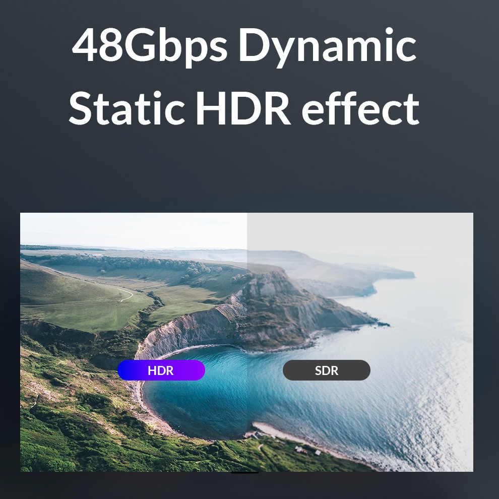 Unnlink kabel HDMI 1.8M UHD-2 8K @ 60Hz HDMI 2.1 HDR RGB 4:4:4 48 gb/s HDCP2.2 dla przejściówka PS4 telewizor z dostępem do kanałów xbox żarówka jak komputera