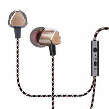 LEXTONE X36M in-ear Earphones stereo bass Headset phone wired control metal case Earphone microphone hd sound quality Earphones все цены