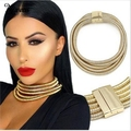 Miwens marca 2017 nueva manera barata cadena de cuero joyería de las mujeres declaración choker collar personalizado collar bijoux femme nl59
