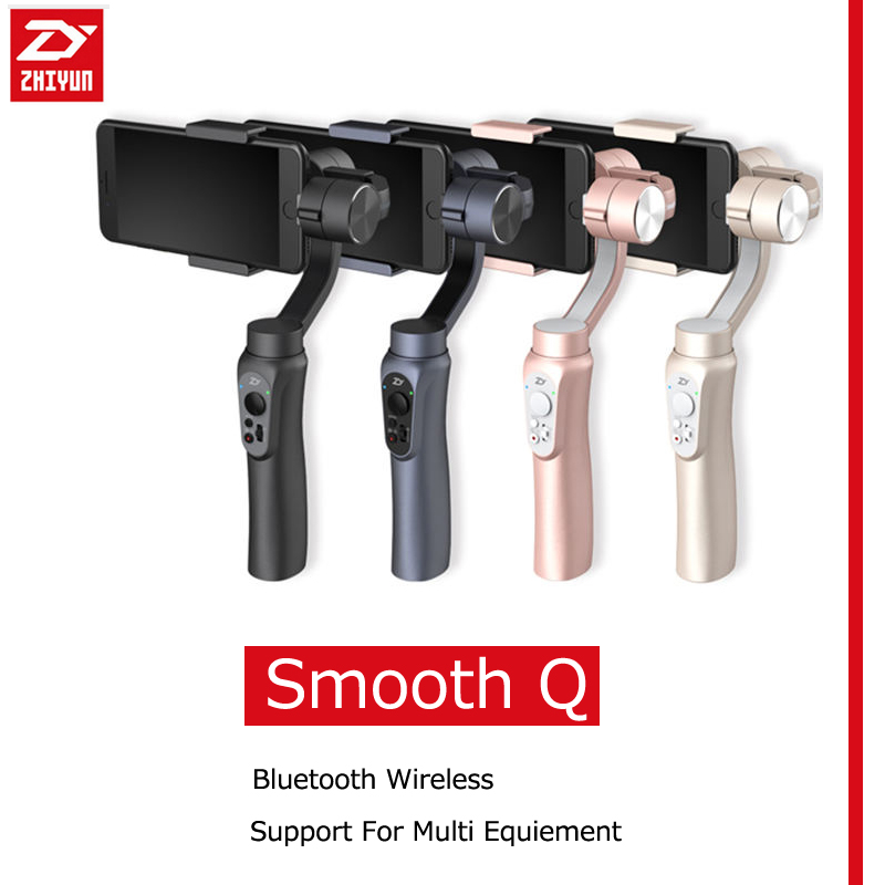 Zhiyun SMOOTH Q 3 Axis Handheld Smartphone Gimbals Stabilizer For Action Camera Smartphone Selfie Sport Cam Black Gold Pink Grey